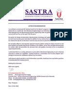 Sandeep Suresh kumar LOR - Venkatraman R (1)