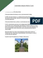 8 lucruri esențiale despre Marie Curie