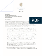President Donald Trump Letter to WHO defesanet