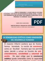 PRESENTACION EL TEATRO EN EL DESARROLLO DE LA SENSIBILIDAD