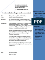 Southern Sudan Target Audience Analysis