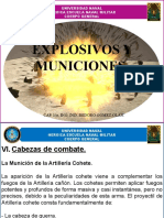 EXPLOSIVOS Y MUNICIONES (cabezas de combate)