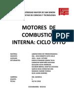 CICLO OTTO MOTORES DE COMBUSTION