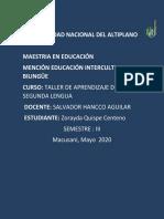 desarrollo del lenguaje QUISPE CENTENO ZORAYDA