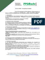 Edital 02 - Disciplinas Isoladas PPGMade