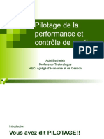 1- Pilotage et management de la performance