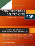 3.1 CARACTERÍSTICAS DEL TRÁNSITO