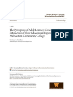 The Perception of Adult Learners Concerning their Satisfaction of