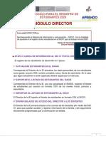 DIRECTOR Protocolo Para El Registro de Estudiantes