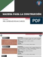 Semana 11 MADERA PARA LA CONSTRUCCIÓN