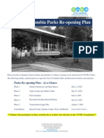 City of Columbia Parks Reopening Plan (Revised May 21 2020)