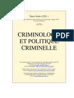Crimino Et Pol Criminelle