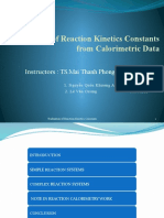 Evaluation of Reaction Kinetics Constants New