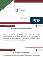 15. Presupuestos Financieros