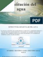 Constitución del agua