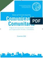 Comunicacion comunitaria. Facultad ciencias sociales UBA