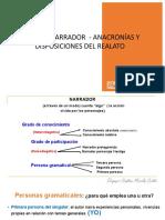 Tipos de Narrador - Anacronías y Disposiciones Del Realato
