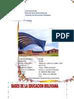 BASES DE LA EDUCACION  BOLIVIANA 2019