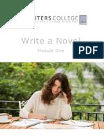 Write a Novel Module One Introduction