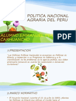 POLITICA NACIONAL AGRARIA DEL PERU