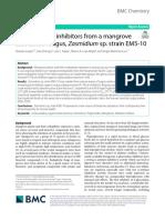 α-Glucosidase inhibitors from a Mangrove Associated Fungi