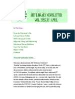 SFIT Library Newsletter Vol 2 Issue 1