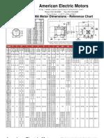 NEMA Motor Dim Chart