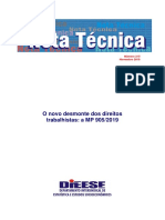 DIEESE NOTA TEC 215 MP 905
