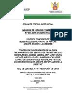 RECEPCION DE OBRA CON FALLAS
