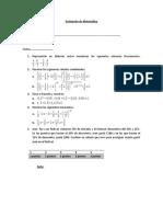 Evaluación de Matemática Tema 1
