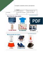 6- Las prendas de vestir en español