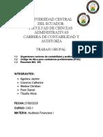 Grupo1-OrganismosRectores, Codigo Ética, NIA 200