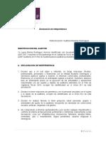 Declaracion Independencia Auditor