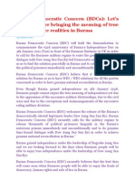 Burma Democratic Concern (BDCs)