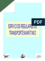 Servicios regulares de transporte maritimo