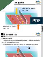 aula voleibol sistemas 4x2 e 6x2