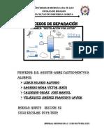 Procesos de Separación - Destilación Por Lotes