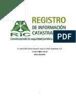 REGISTRO DE INFORMACIÓN CASTASTRAL
