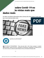 Fake news sobre Covid-19 no YouTube são vistas mais que dados reais