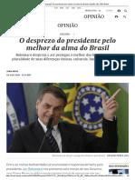 [O desprezo do presidente pelo melhor da alma do Brasil _ Opinião _ EL PAÍS Brasil]