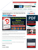 Tube Rank Machine Review Rank Videos Faster Get Free Traffic From Youtube