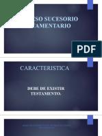 PROCESO SUCESORIO TESTAMENTARIO