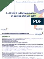 Le crédit à la consommation en Europe (juin 2009)