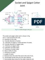 Design of Socket and Spigot Cotter Joint