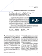 [10920684 - Neurosurgical Focus] Evidence-based management of central cord syndrome