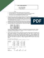 UAS 2010 Analisis Regresi