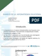 MANEJO HIPONATREMIA DILUCIONAL