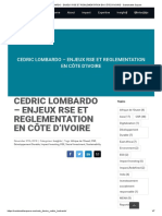 ENJEUX RSE ET REGLEMENTATION EN CÔTE D'IVOIRE