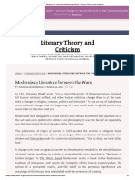 Modernism_ Literature between the Wars _ Literary Theory and Criticism.pdf