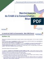 Marché du crédit à la consommation en France (bilan 2009)